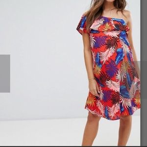 🌺 Preloved maternity🤰🏻one shoulder midi dress